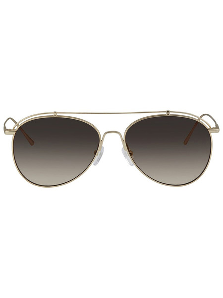 Солнцезащитные очки-авиаторы в золотистой оправе CK2163S-746 Calvin Klein фото