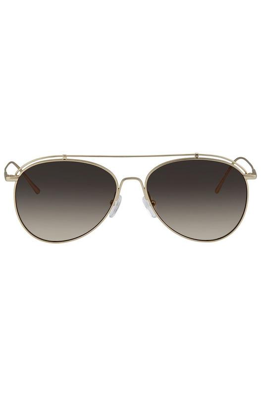 Солнцезащитные очки-авиаторы в золотистой оправе CK2163S-746 Calvin Klein