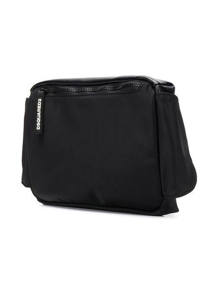 Черная поясная сумка с логотипом