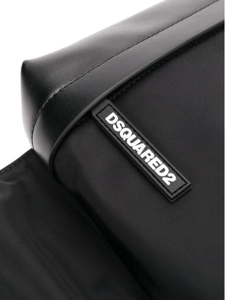Черная поясная сумка с логотипом Dsquared2, фото