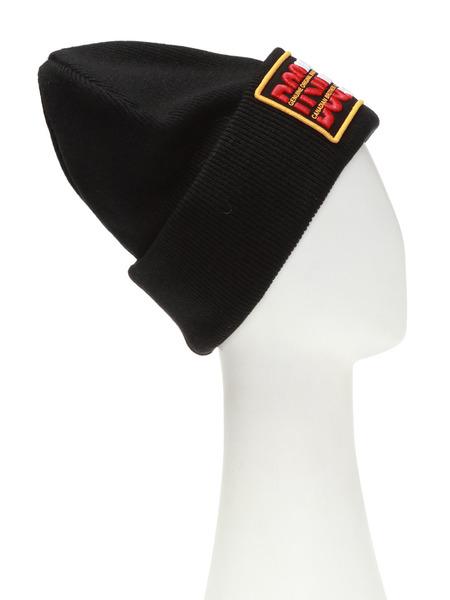 Черная шапка с нашивкой логотипа Dsquared2, фото