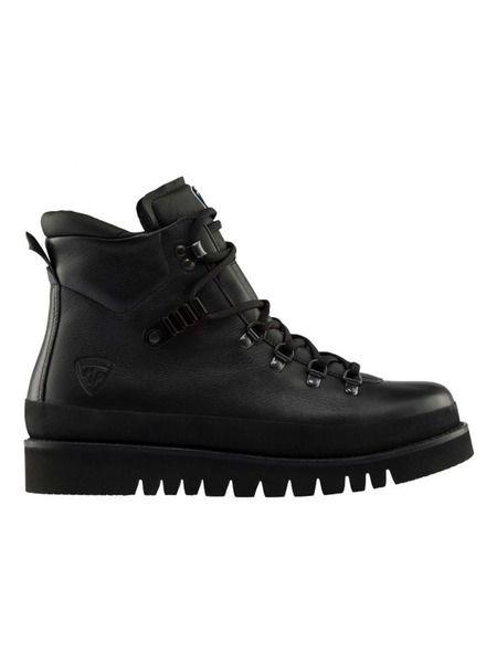 Черные кожаные ботинки на шнуровке Rossignol фото