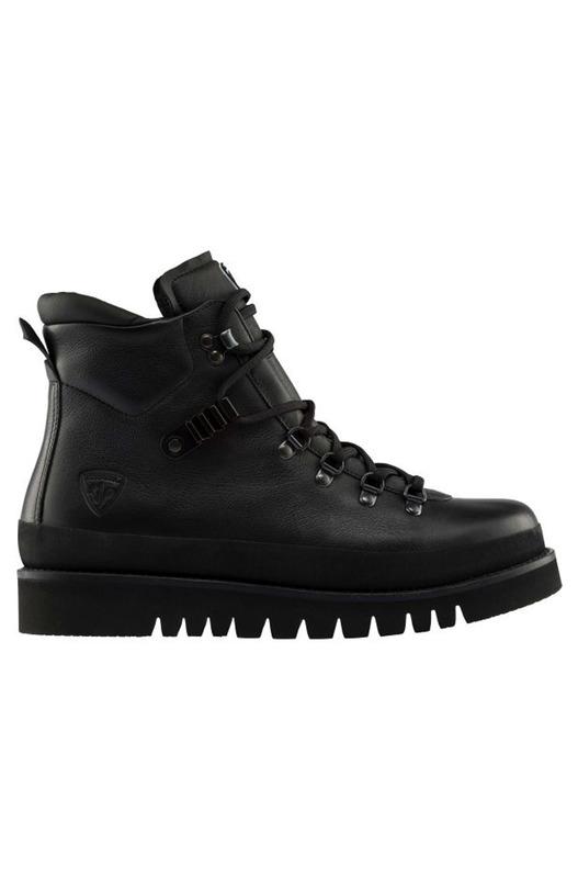 Черные кожаные ботинки на шнуровке Rossignol