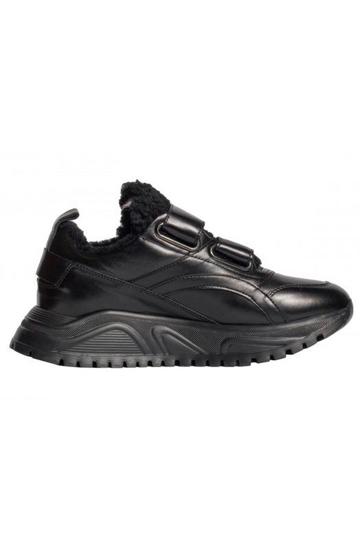 Черные кожаные зимние кроссовки Bogner, фото