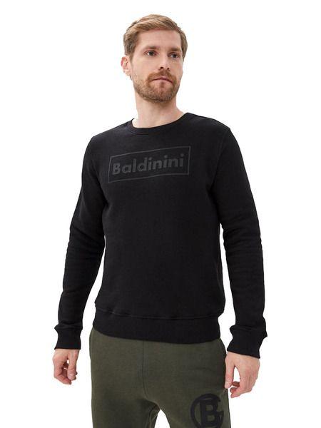 Черный свитшот с логотипом на груди Baldinini, фото