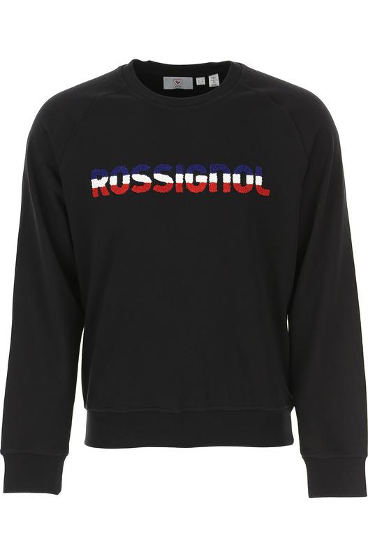 Черный свитшот с нашитым логотипом Rossignol, фото