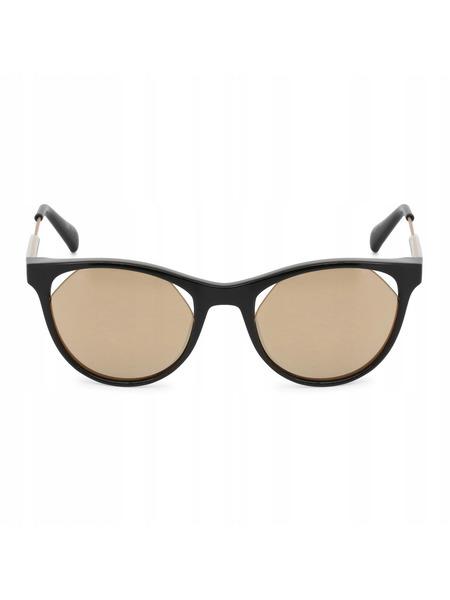 Солнцезащитные очки кошачий глаз с золотистыми линзами CKJ510S 001 Calvin Klein Jeans, фото