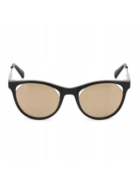 Солнцезащитные очки кошачий глаз с золотистыми линзами CKJ510S 001