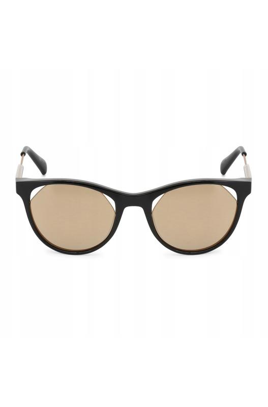 Солнцезащитные очки кошачий глаз с золотистыми линзами CKJ510S 001 Calvin Klein Jeans