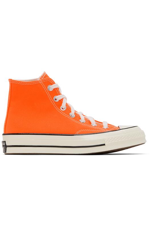 Оранжевые кеды Chuck 70 High-Top Converse, фото