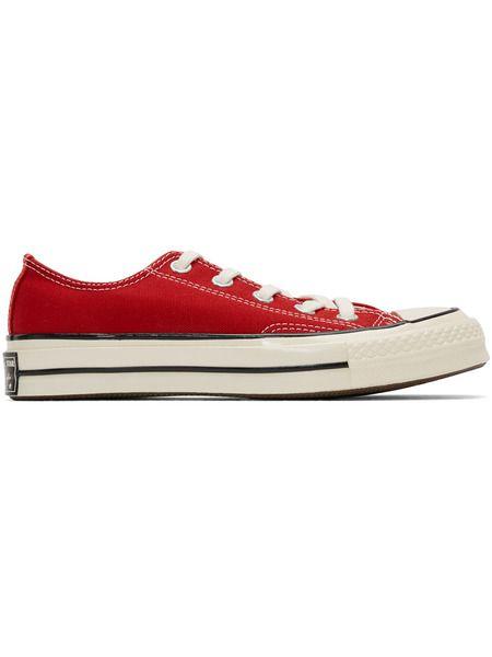 Красные короткие кеды Chuck 70 Converse фото
