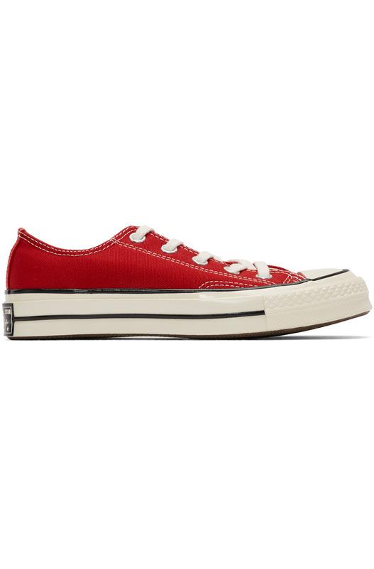 Красные короткие кеды Chuck 70