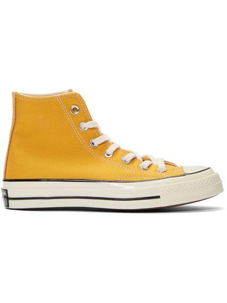 Желтые высокие кеды Chuck 70 High Converse фото