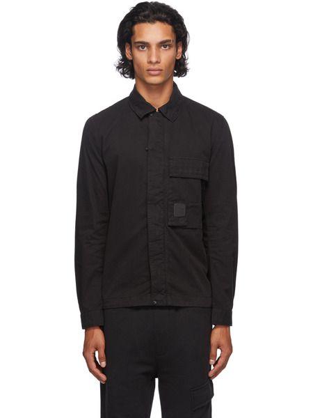 Овершот на молнии с карманом черного цвета C.P. Company фото