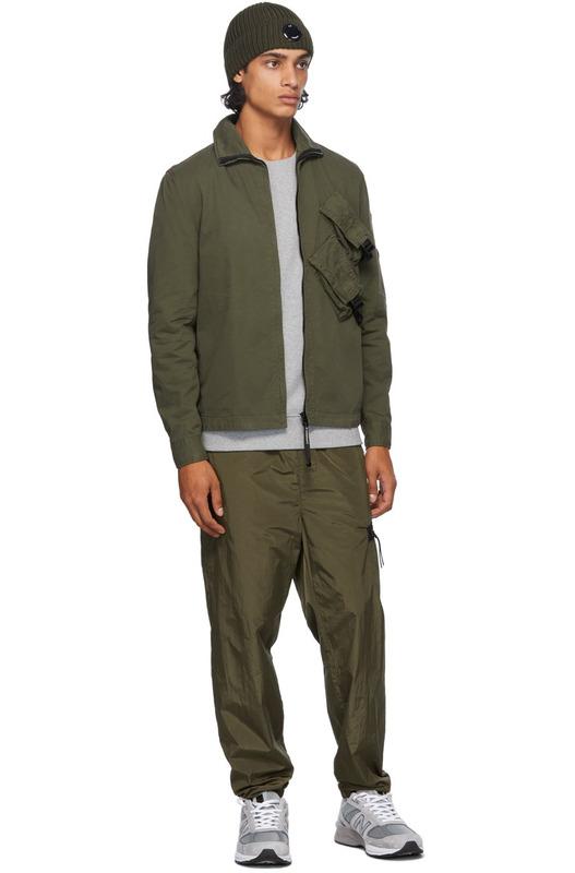 Зеленая рубашка с линзами C.P. Company, фото