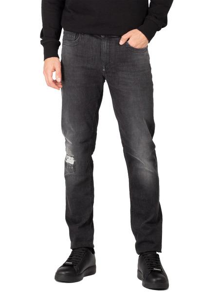 Прямые джинсы черного цвета Bikkembergs фото