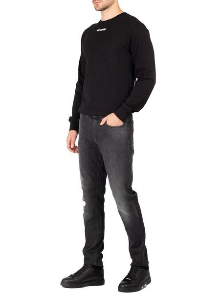 Прямые джинсы черного цвета Bikkembergs, фото