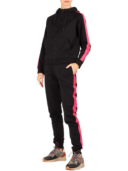 Черный спортивный костюм с розовыми лампасами Bikkembergs фото