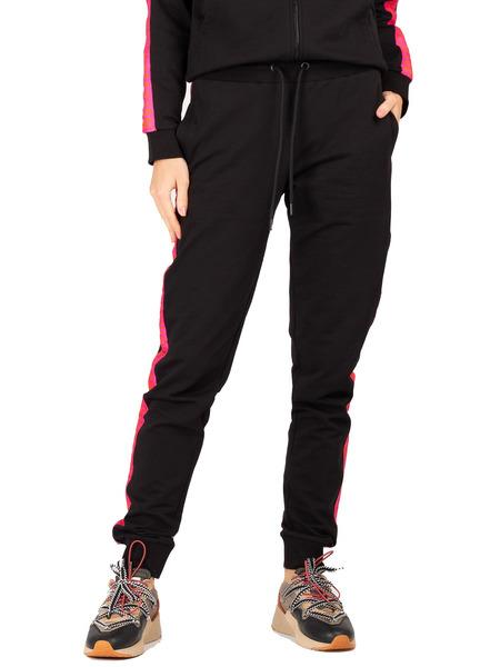 Черный спортивный костюм с розовыми лампасами Bikkembergs, фото