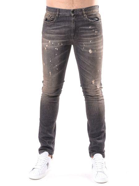 Серые джинсы Slim Fit Bikkembergs фото