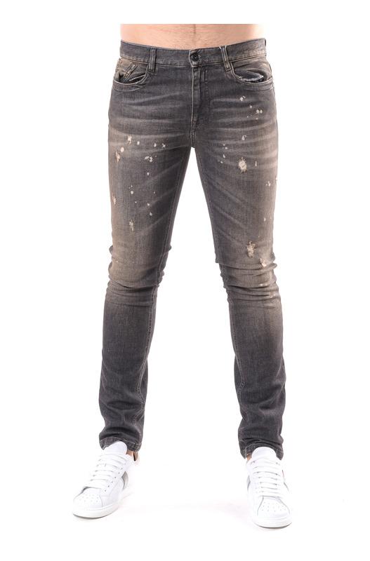 Серые джинсы Slim Fit Bikkembergs