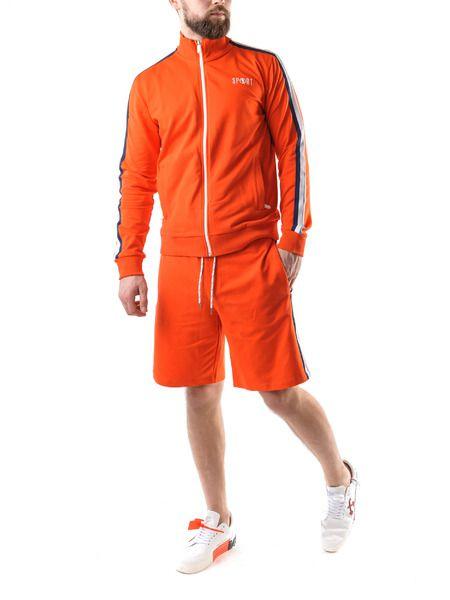 Оранжевая олимпийка с шортами
