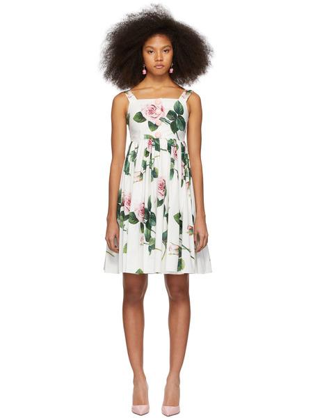 Разноцветное короткое платье с принтом Dolce & Gabbana, фото