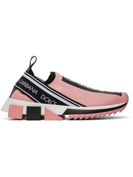 Розовые кроссовки Sorrento Dolce & Gabbana фото