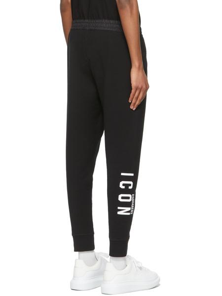 Чёрные спортивные брюки на кулиске Icon Dsquared2, фото