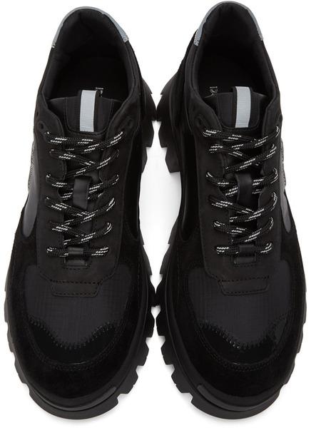 Черные кроссовки на тракторной подошве Dsquared2, фото