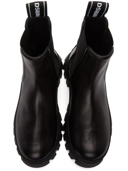Черные ботинки челси с тесьмой Dsquared2, фото