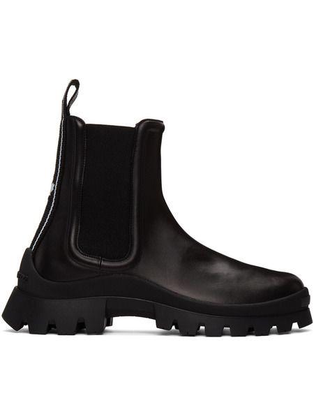 Черные ботинки челси с тесьмой Dsquared2 фото