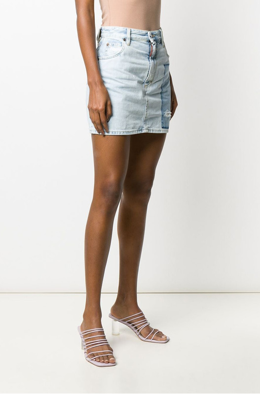 Джинсовая юбка Dalma с потертостями Dsquared2, фото