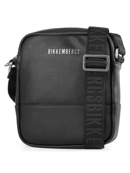 Мужская черная сумка на 1 отделение Bikkembergs фото