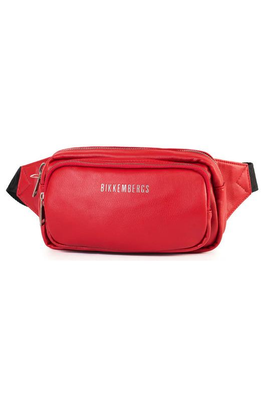 Красная поясная сумка с логотипом Bikkembergs, фото