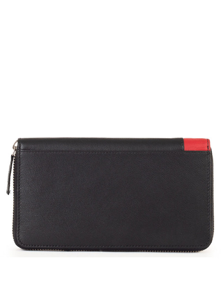 Мужской кошелек черного цвета на молнии Bikkembergs, фото
