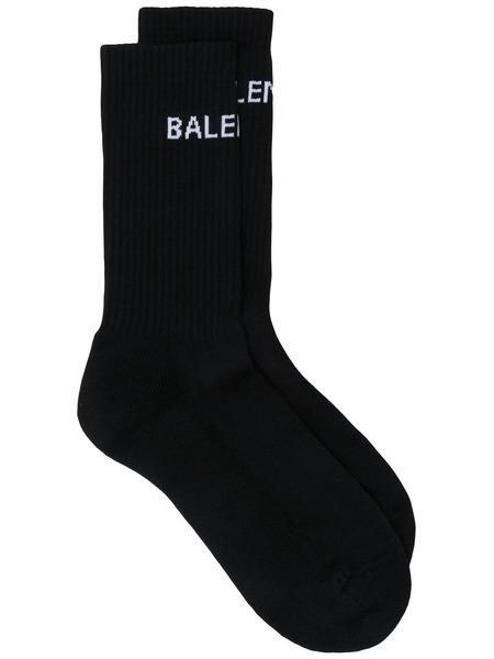 Черные трикотажные носки с логотипом Balenciaga фото