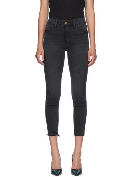 Черные короткие джинсы Le High Skinny Crop Frame, фото