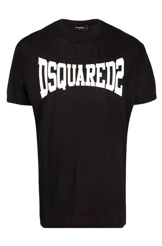 Черная футболка с логотипом Dsquared2, фото