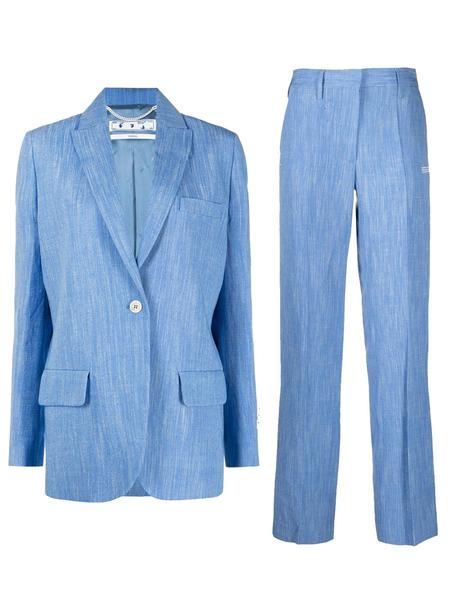 Голубой блейзер Tomboy и брюки прямого кроя Off-White, фото