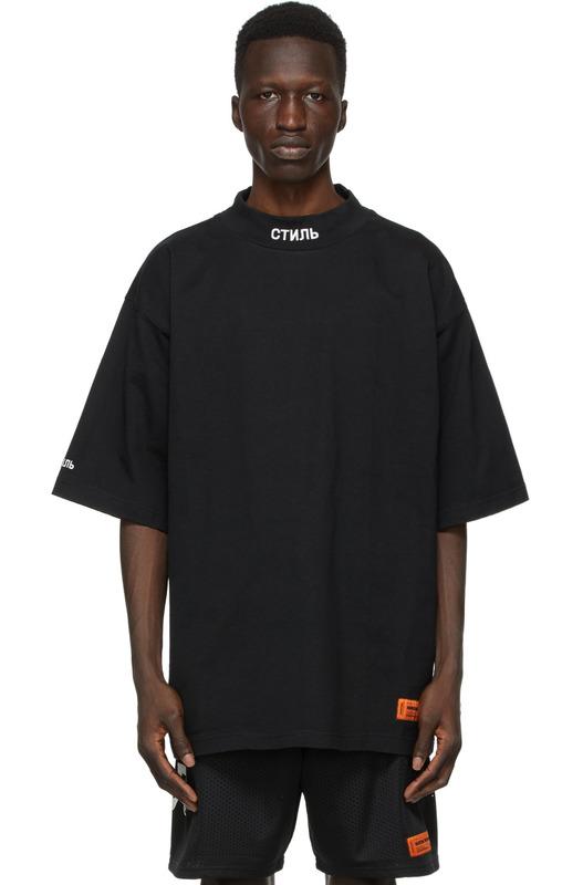 Черная футболка СТИЛЬ с логотипом Heron Preston, фото