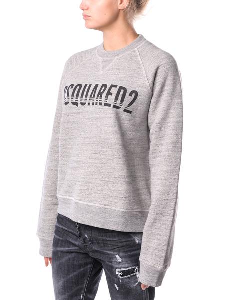 Хлопковый свитшот серого цвета Dsquared2, фото