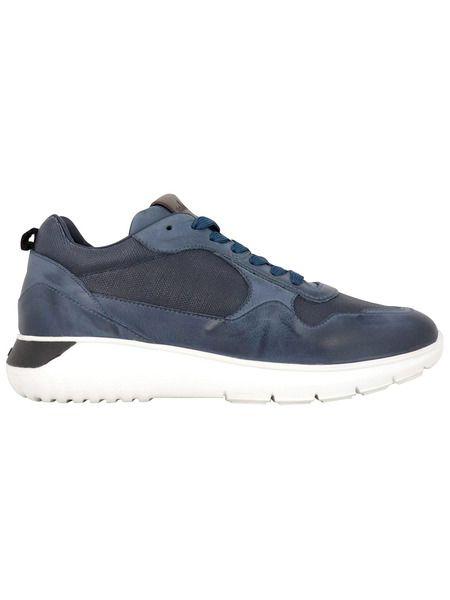 Синие кожаные кроссовки Interactive³ Hogan фото