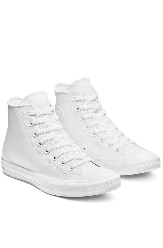 Кеды Chuck Taylor All Star Leather White Mono 1T406 Converse, фото