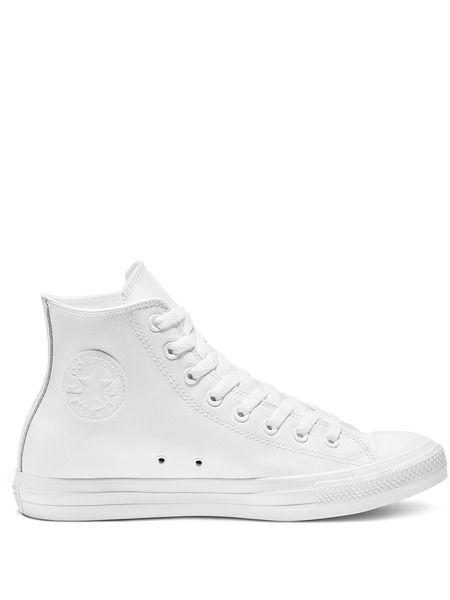 Кеды Chuck Taylor All Star Leather White Mono Converse фото