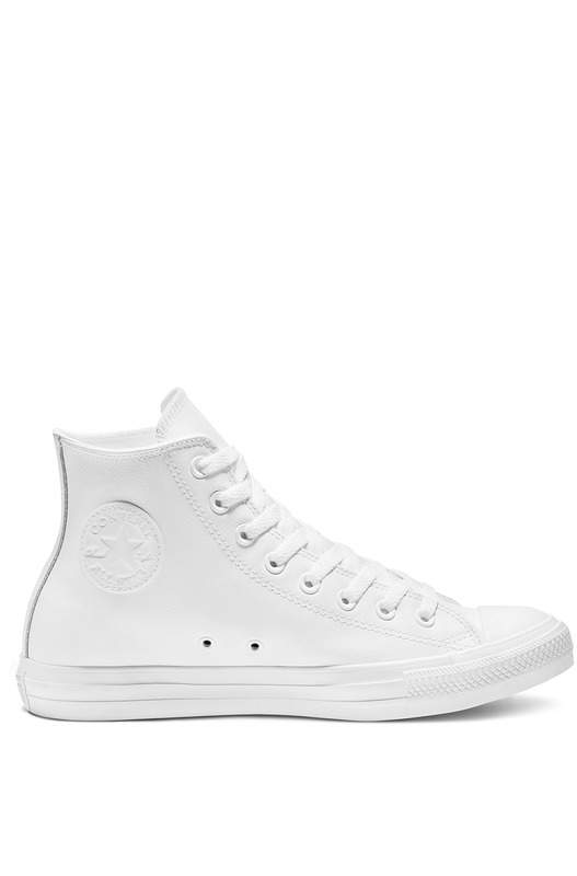 Кеды Chuck Taylor All Star Leather White Mono 1T406 Converse, фото