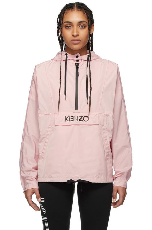 Розовый анорак с логотипом Kenzo Kenzo
