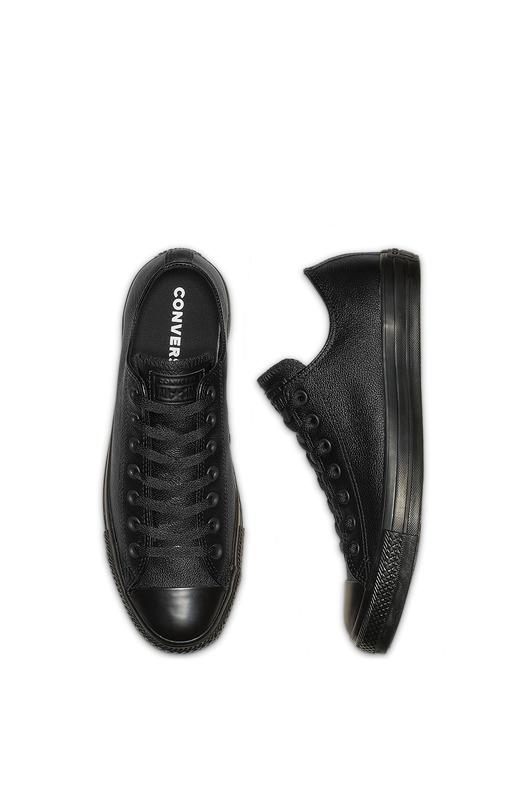 Кожаные кеды Chuck Taylor All Star Mono Leather Black Converse, фото