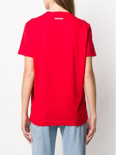 Красная футболка D2 Dsquared2, фото