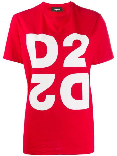 Красная футболка D2 Dsquared2 фото
